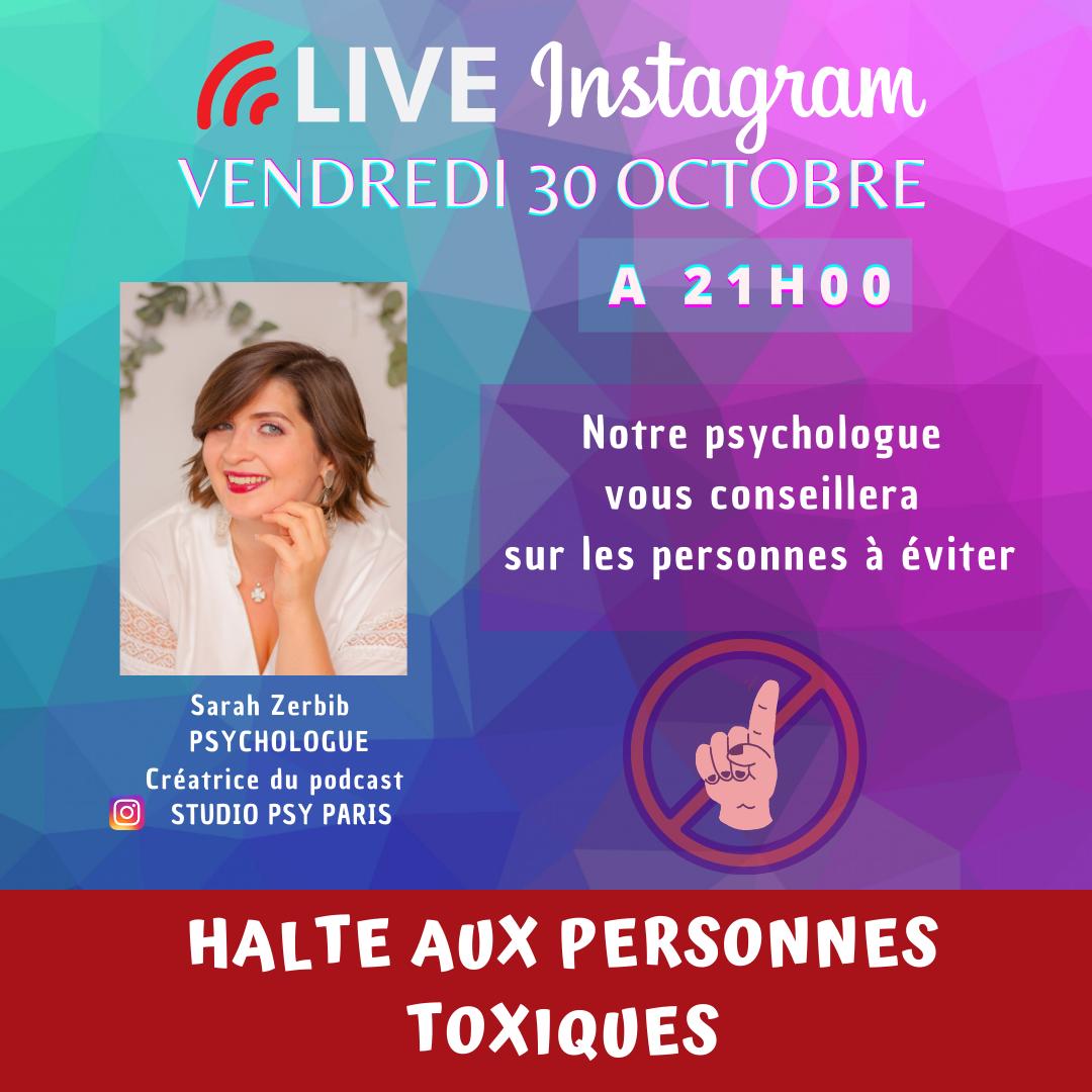 live instagram sur les personnes toxiques